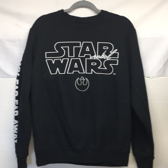 Star Wars NWOT Light Weight Sweatshirt LG Black